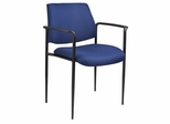 Boss Square Back Diamond Stacking Chair In Blue - B9503-BE