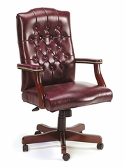Boss Traditional Executive Swivel Chair in Oxblood Vinyl - B905-BY