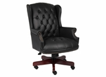 Boss Wingback Traditional Chair In Black - B800-BK