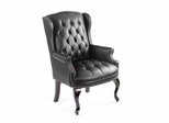 Boss Wingback Traditional Guest Chair In Black - B809-BK