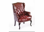 Boss Wingback Traditional Guest Chair In Burgundy - B809-BY