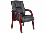 Boss Wood Finished Guest Chairs in Mahogany - B8999-M