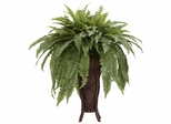 Boston Fern with Stand Silk Plant - Nearly Natural - 6627