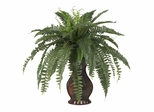 Boston Fern with Urn Silk Plant - Nearly Natural - 6629