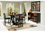 Boyer 6-Piece Counter Height Table Set in Black / Cherry - Coaster - 102098-9-DSET