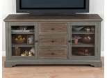 """Brimfield Antiqued Grey 60"""" TV Stand with 3 Drawers - 050-9"""