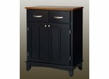 Buffet - Black Buffet with Cottage Oak Wood Top - Home Styles - 5001-0046