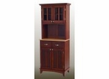 Buffet - Cherry Buffet with Two Door Hutch and Natural Wood Top - Home Styles - 5001-0071-72
