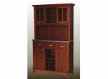Buffet - Cherry Buffet with Two Door Hutch and Stainless Top - Home Styles - 5100-0073-72
