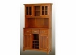 Buffet - Cottage Oak Buffet with Open Hutch and Cottage Oak Wood Top - Home Styles - 5100-0066-62