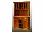Buffet - Cottage Oak Buffet with Two Door Hutch and Natural Wood Top - Home Styles - 5100-0061-62