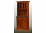 Buffet - Cottage Oak Buffet with Two Door Hutch and Stainless Top - Home Styles - 5001-0063-62