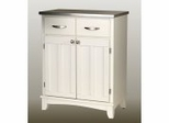 Buffet - White Buffet with Stainless Top - Home Styles - 5001-0023
