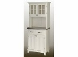Buffet - White Buffet with Two Door Hutch and Stainless Top - Home Styles - 5001-0023-22