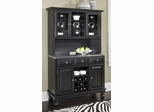 Buffet with Stainless Top and Two Door Hutch in Black - Home Styles - 5300-0042-04