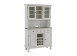 Buffet with Stainless Top and Two Door Hutch in White - Home Styles - 5300-0022-02