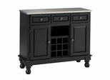 Buffet with Stainless Top in Black - Home Styles - 5300-0042