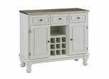 Buffet with Stainless Top in White - Home Styles - 5300-0022