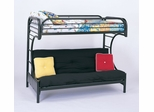 "Bunk Bed - ""C"" Style Twin / Futon Bunk Bed in Black - Coaster"