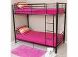 Bunk Bed - Sunset Twin / Twin Size Bunk Bed in Black - BTOTBL