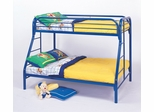 Bunk Bed - Twin / Full Size Bunk Bed in Blue - Coaster