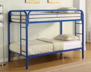Bunk Bed - Twin / Twin Size Bunk Bed in Blue - Coaster - 2256B