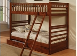 Bunk Bed - Twin / Twin Size Bunk Bed in Cherry - Coaster
