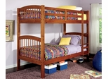 Bunk Bed - Twin / Twin Size Bunk Bed in Oak - Coaster