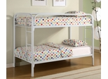 Bunk Bed - Twin / Twin Size Bunk Bed in White - Coaster - 2256W