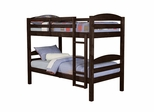 Bunk Bed - Twin / Twin Size Solid Wood Bunk Bed in Espresso - BWSTOTES