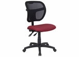 Burgundy Fabric and Mesh Task Chair - WL-A7671SYG-BY-GG