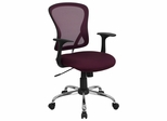 Burgundy Mesh Executive Office Chair - H-8369F-ALL-BY-GG