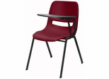 Burgundy Tablet Arm Chair Desk with Left Side Tablet - RUT-EO1-BY-LTAB-GG