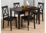 Burly 5PC Brown and Black Dining Table Set - 261