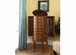 """Burnished Oak"" Jewelry Armoire - Powell Furniture - 604-318"