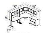 Bush Advantage Beech Design 16 - Plan For 8' by 7' Work Station