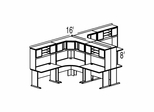 Bush Advantage Beech Design 45 - Plan For Multi-Station 8' by 8' Work Station