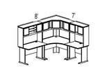 Bush Advantage Hansen Cherry Design 15 - Plan For 8' by 7' Work Station