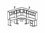 Bush Advantage Hansen Cherry Design 28 - Plan For 8' by 9' Work Station