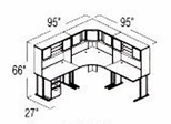 Bush Advantage Light Oak Design 22 - Plan For 8' by 8' Work Station