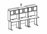 Bush Advantage Light Oak Design 34 - Plan For 9' Work Station
