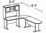 Bush Advantage Light Oak Design 5 - Plan For Smaller Work Station