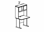 Bush Advantage Medium Cherry Design 1 - Plan For Smaller Work Station