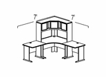 Bush Advantage Medium Cherry Design 12 - Plan For Smaller Work Station