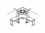 Bush Advantage Medium Cherry Design 19 - Plan For 8' by 8' Work Station