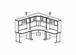 Bush Advantage Medium Cherry Design 21 - Plan For 8' by 8' Work Station