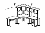 Bush Advantage Medium Cherry Design 24 - Plan For 8' by 8' Work Station