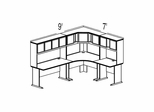 Bush Advantage Medium Cherry Design 35 - Plan For 9' by 7' Work Station