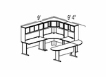 Bush Advantage Medium Cherry Design 37 - Plan For 9' by 10' Work Station