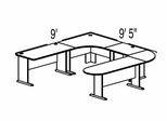 Bush Advantage Pewter Design 38 - Plan For 9' by 10' Work Station